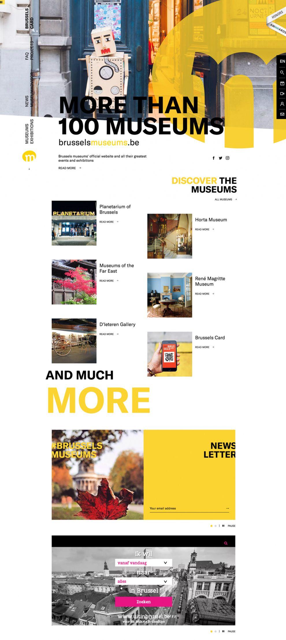 Brussels Museum Great Homepage
