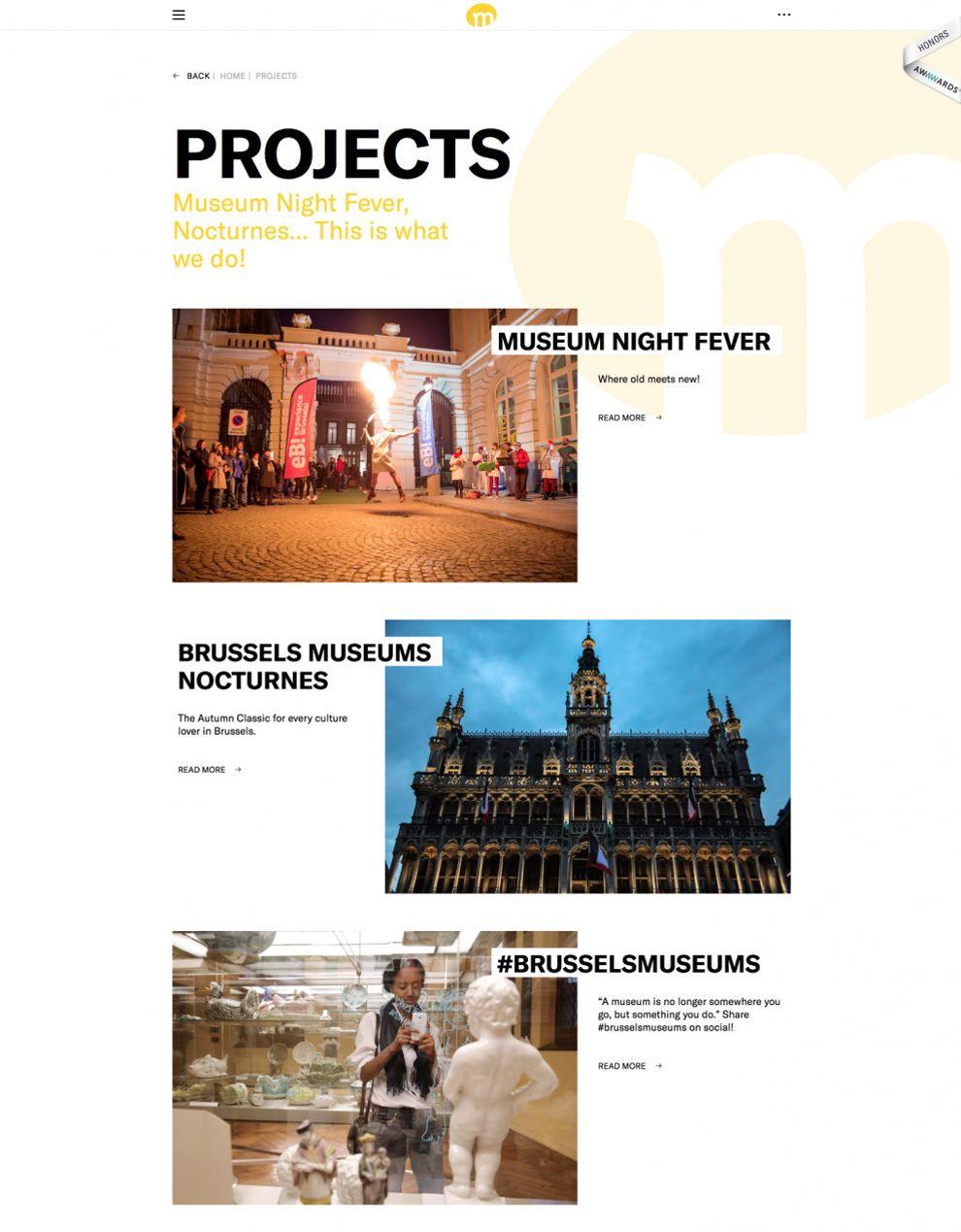 Brussels Museum Great Website Design