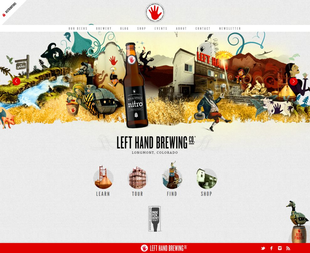Left Hand Brewing Awesome Homepage