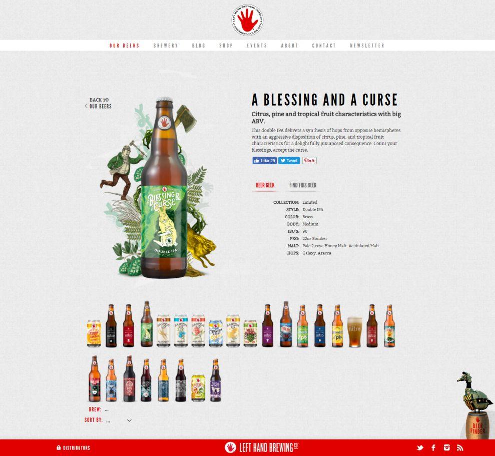 Left Hand Brewing Awesome Website Design