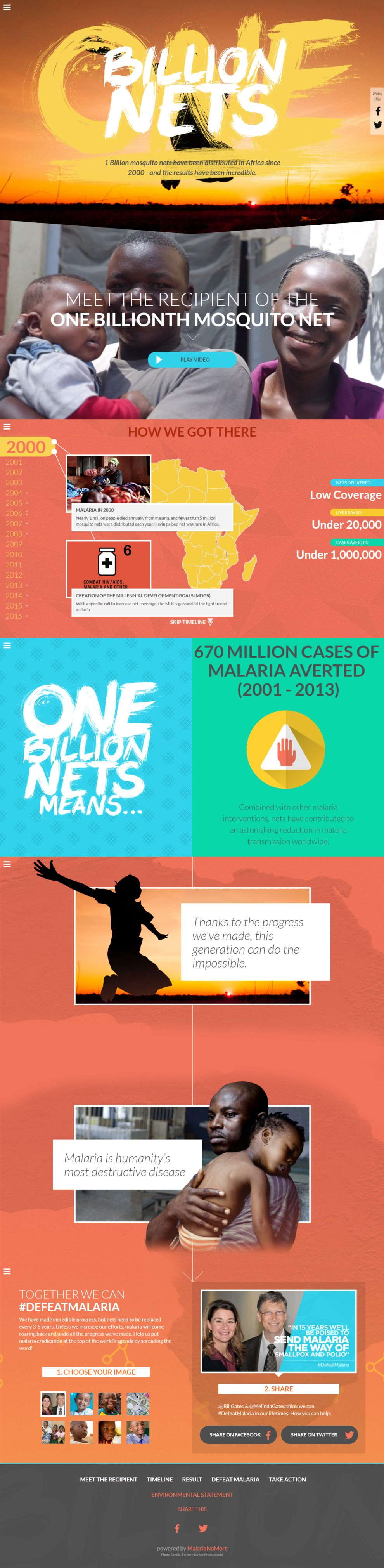 1 Billion Nets Colorful Website Design