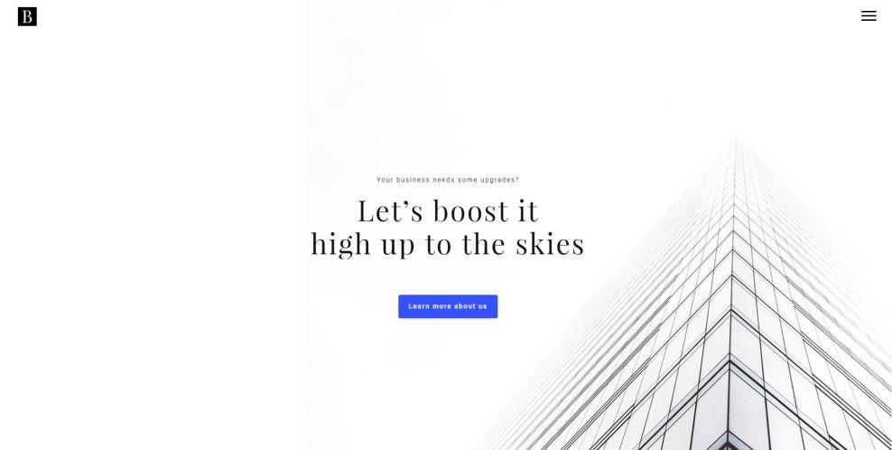Boosted Elegant Homepage