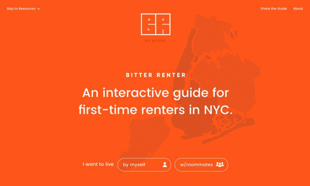 Bitter Renter Great Homepage