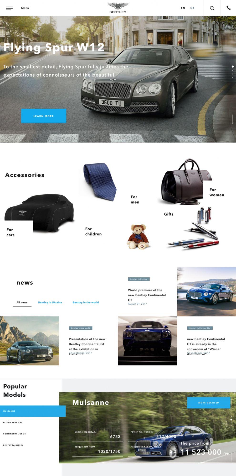 Bentley Kyiv Great Homepage