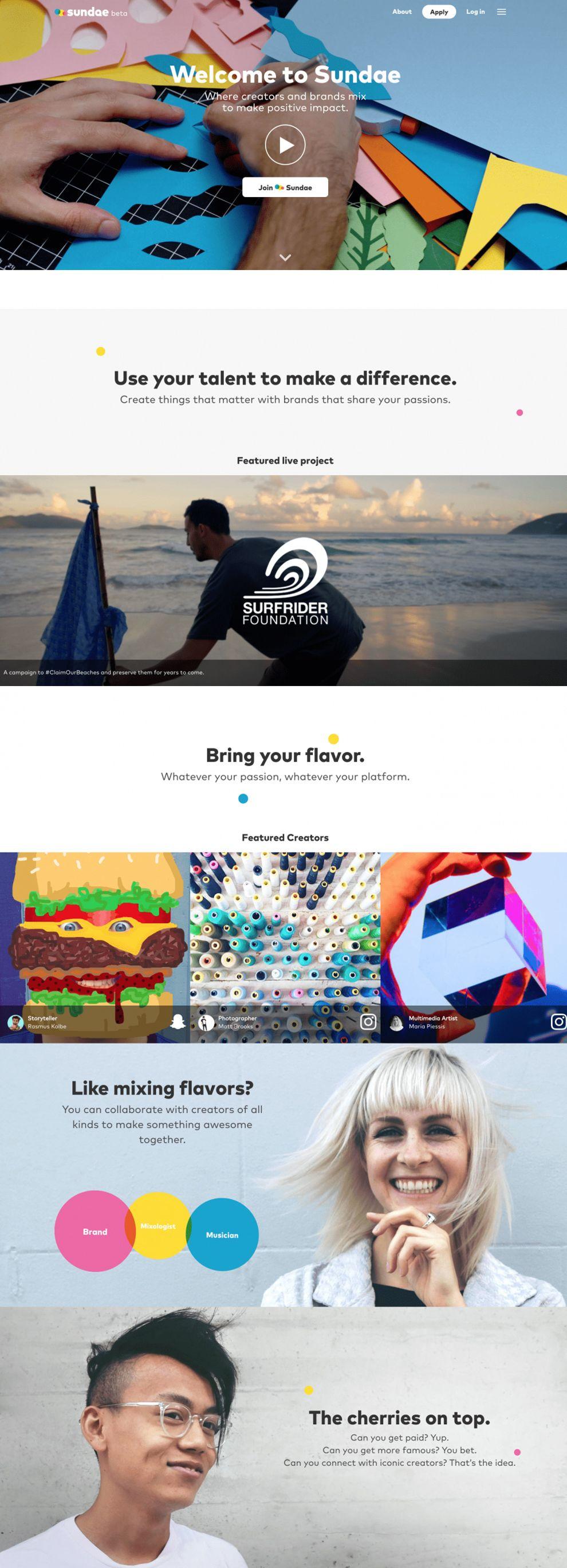 Sundae Great Homepage
