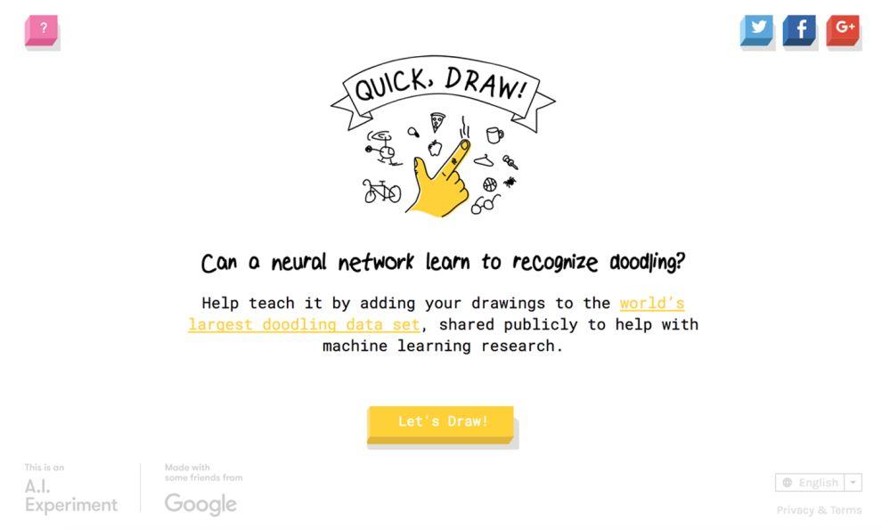 Quick Draw Creative Homepage