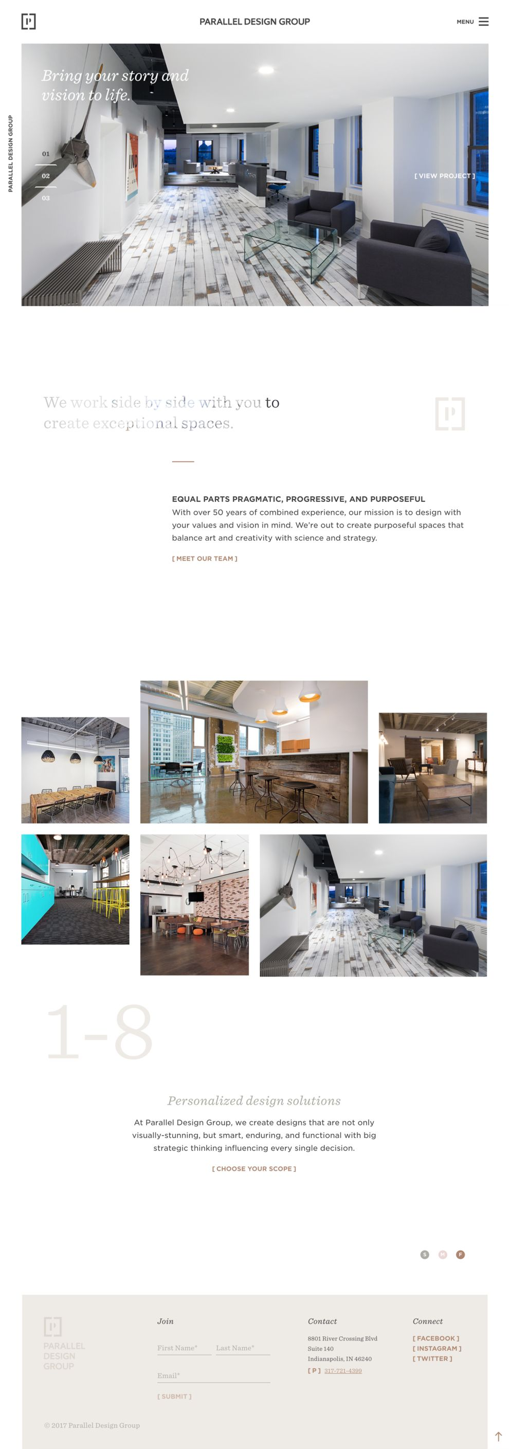 Parallel Design Group Clean Homepage