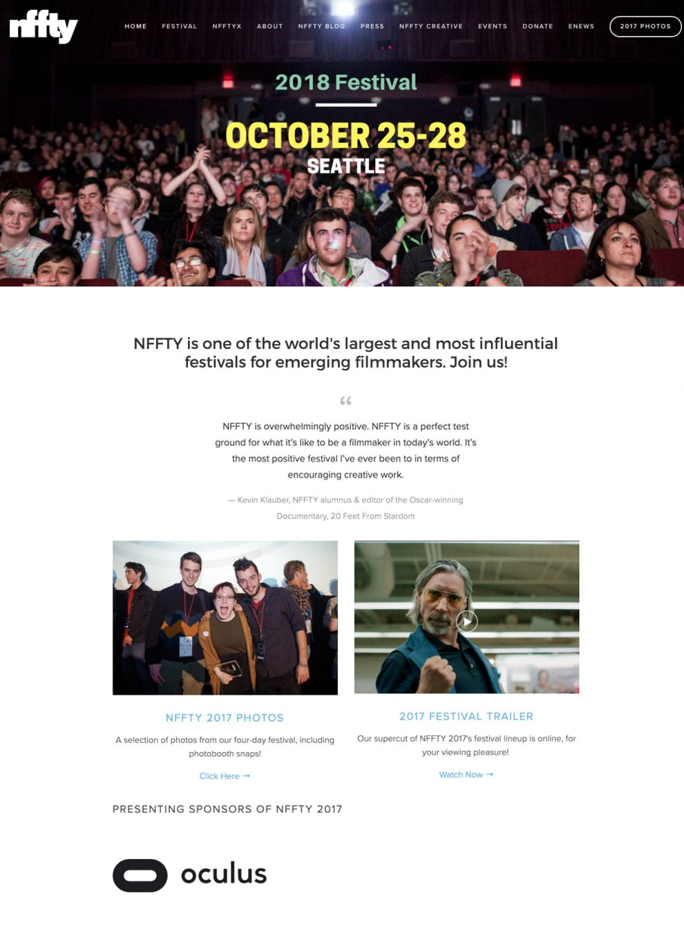NFFTY Great Homepage