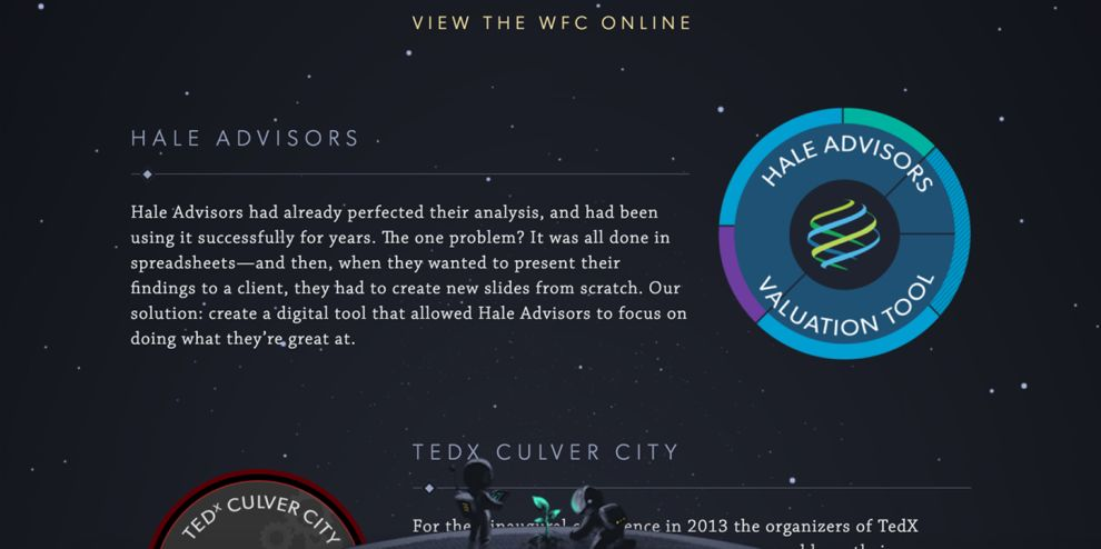 Moonfarmer Creative Portfolio Page