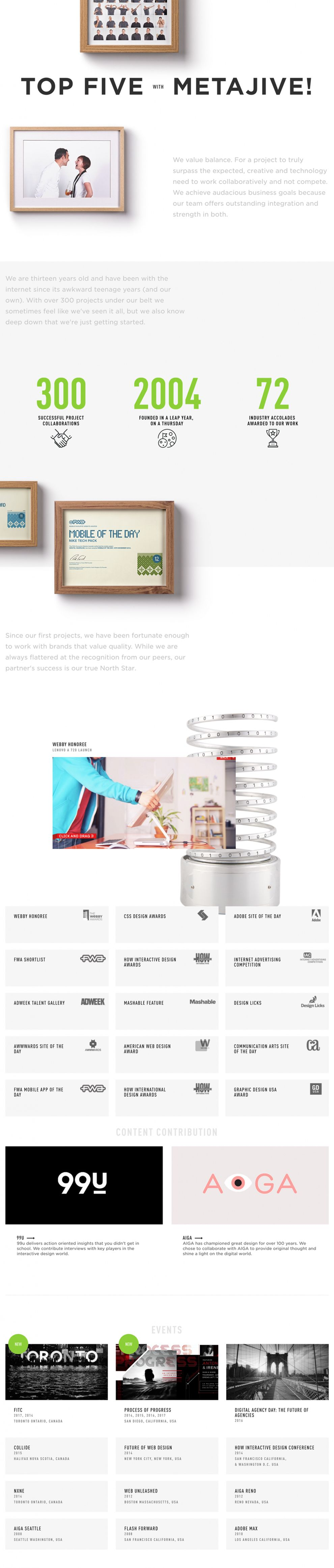 Metajive Clean Website Design