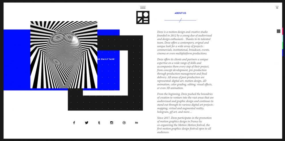Doze Studio Amazing Website Design