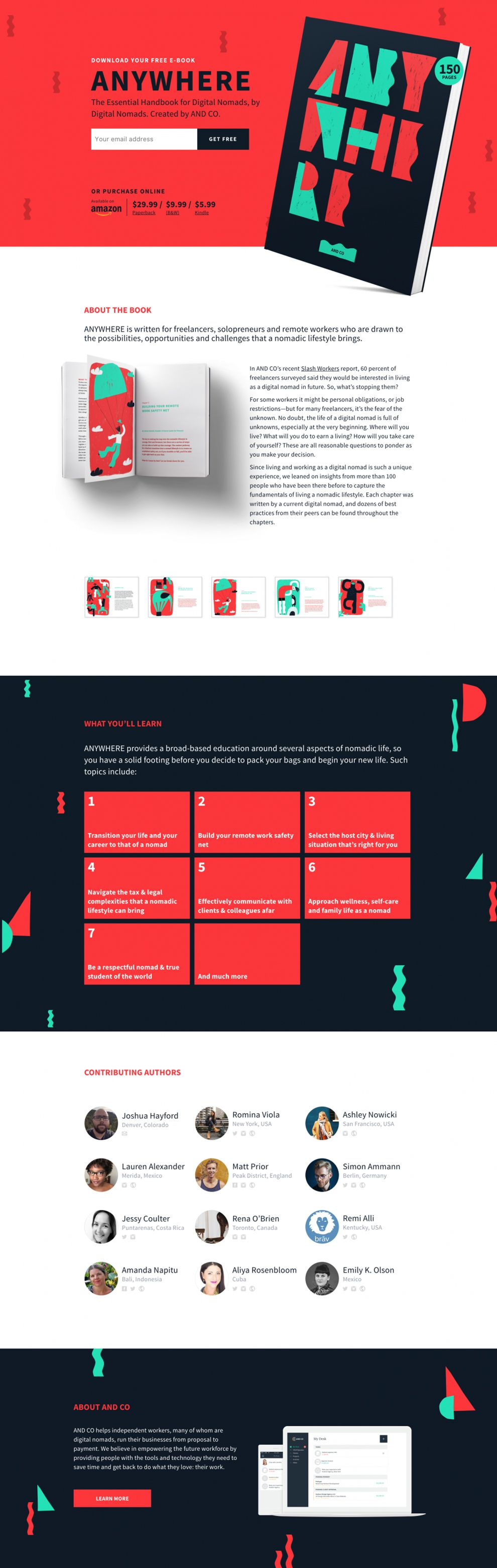 Digital Nomad Book Colorful Homepage