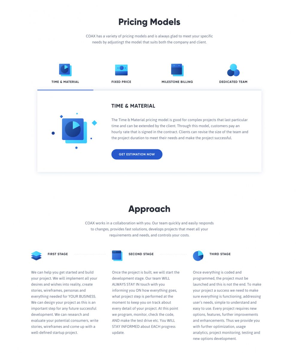 Coax Great Pricing Page