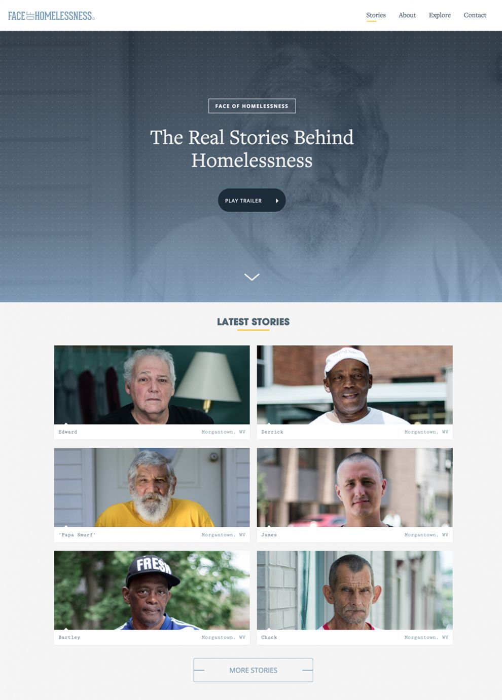 Face Of Homelessness Great Homepage