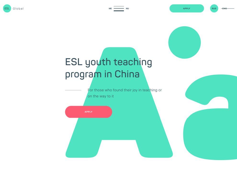 ESL Global Bright Homepage