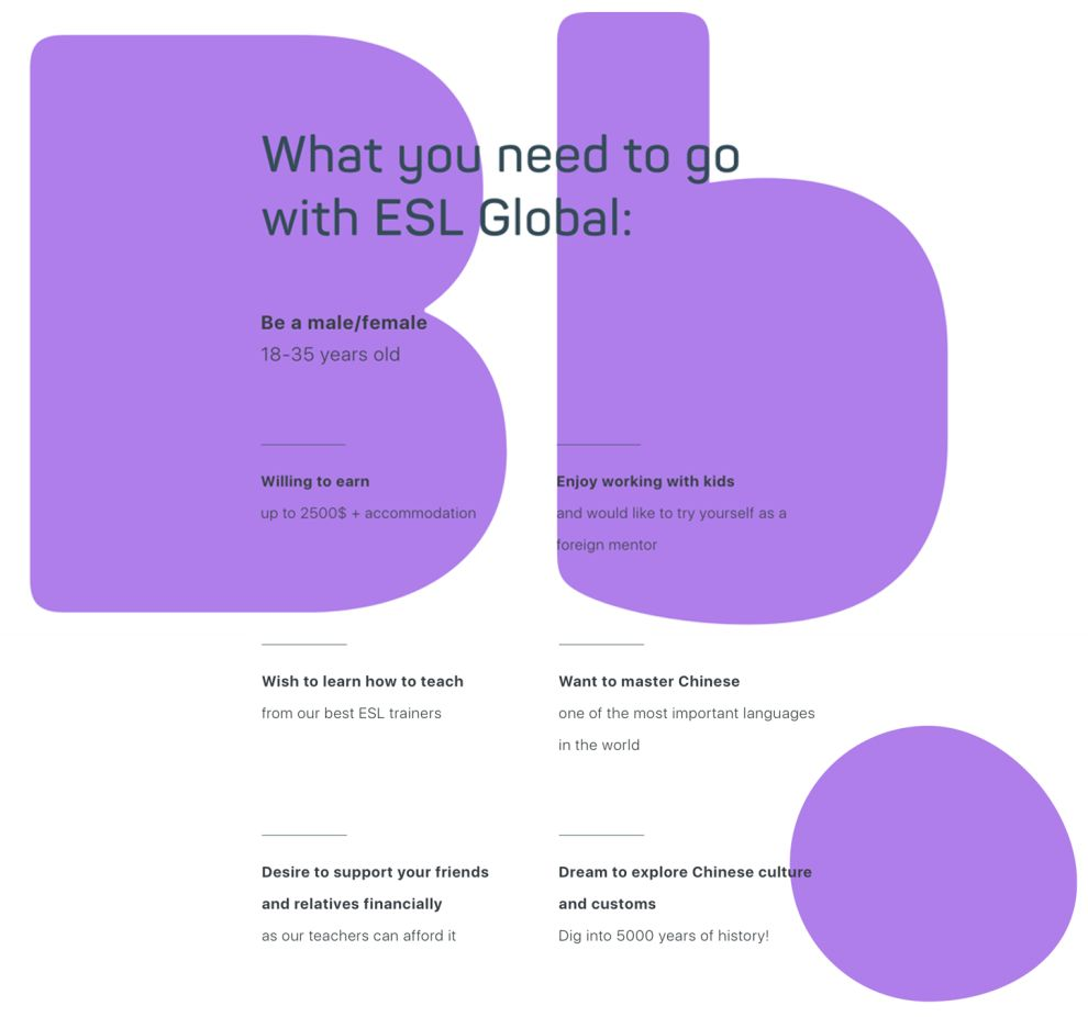 ESL Global Bright Website Design