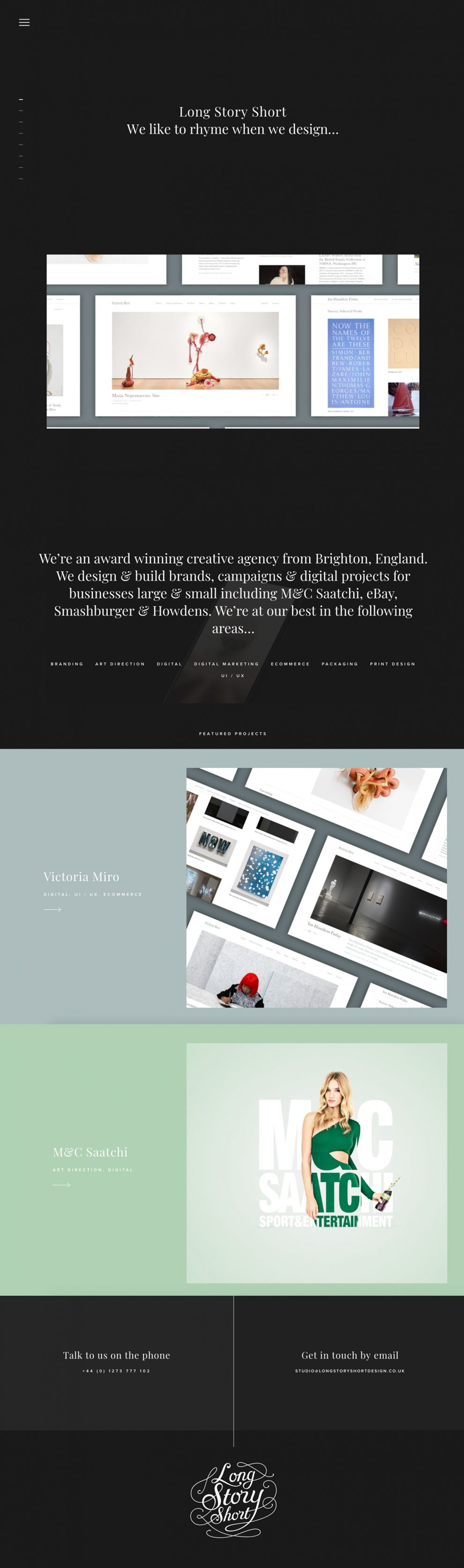 Long Story Short Design Clean Homepage