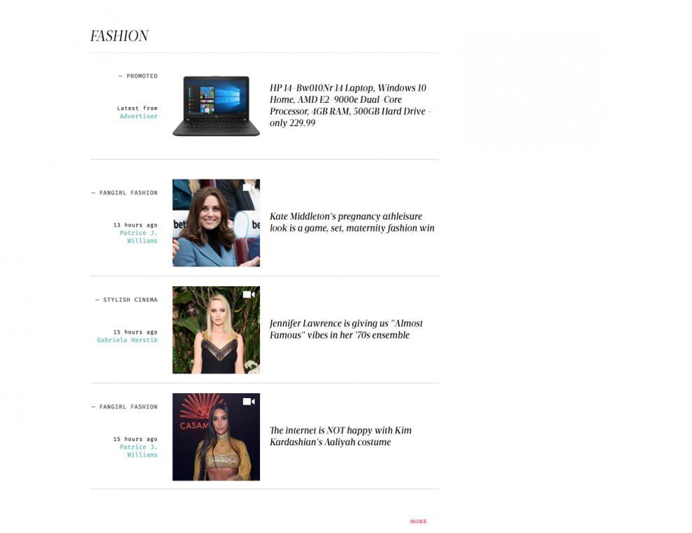 Hello Giggles Colorful Website Design