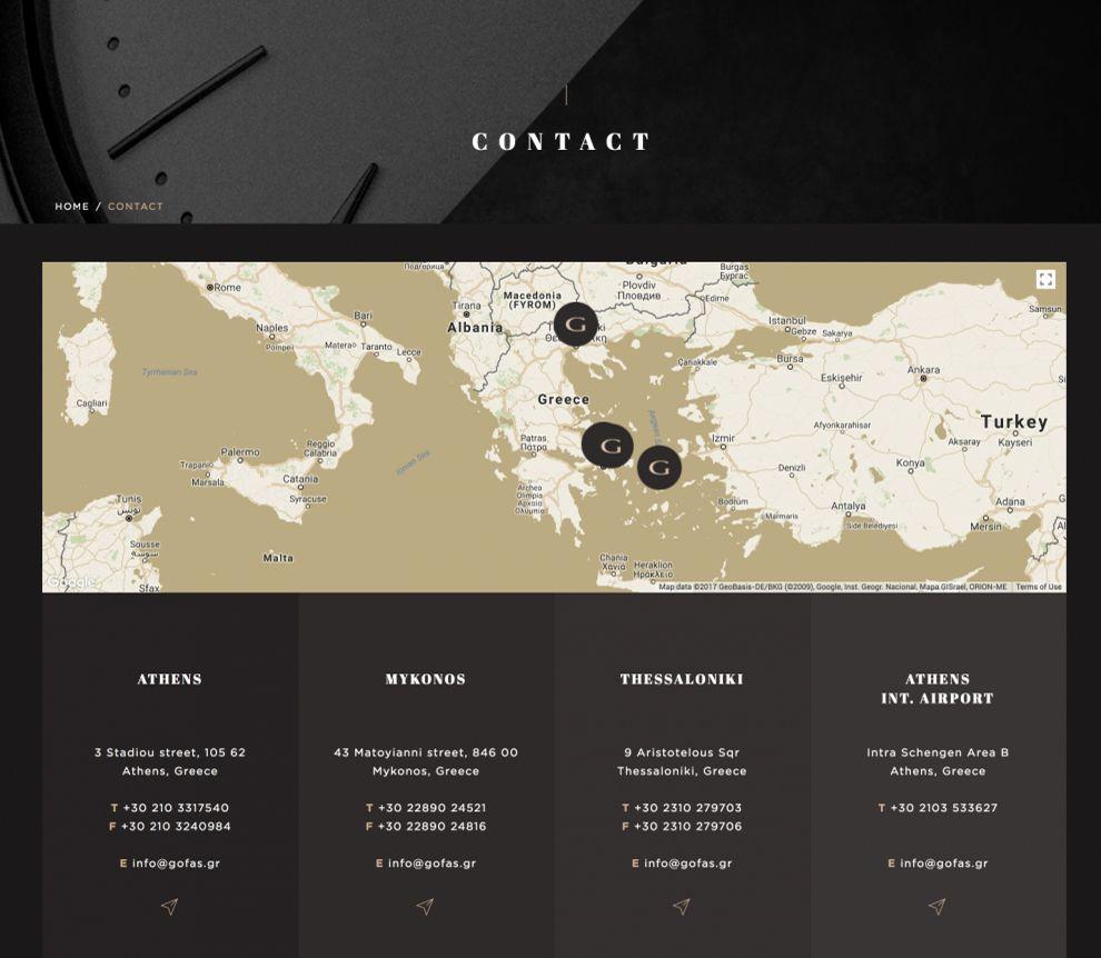 Gofas Interactive Map Design