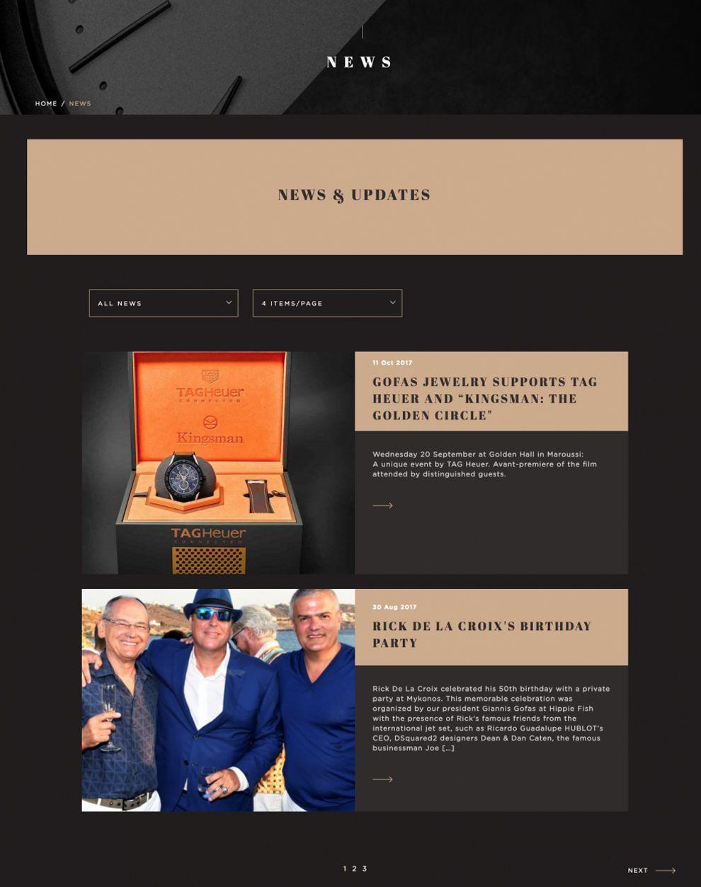 Gofas Blog Page Design