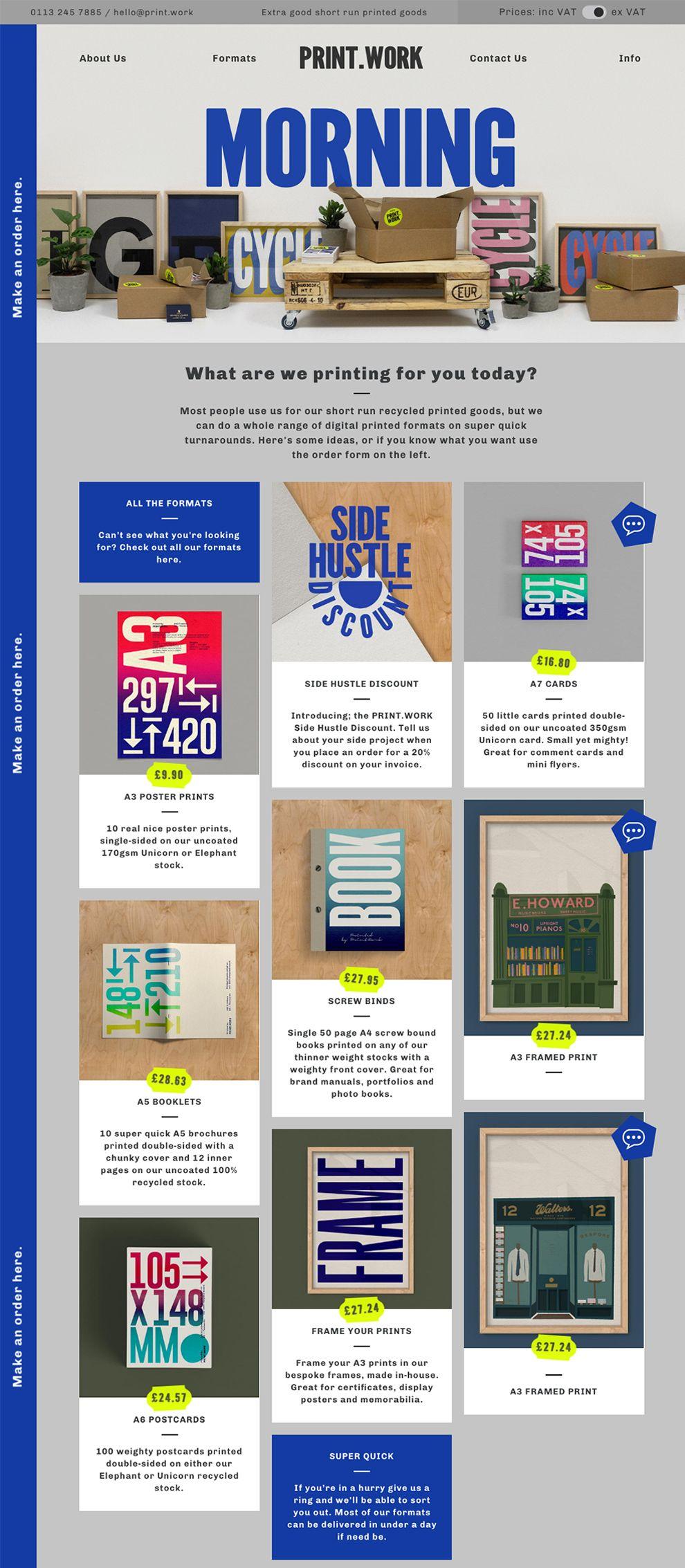 Print.Work Great Homepage