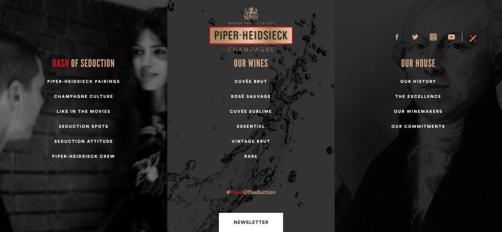Piper-Heidsieck Awesome Menu Design