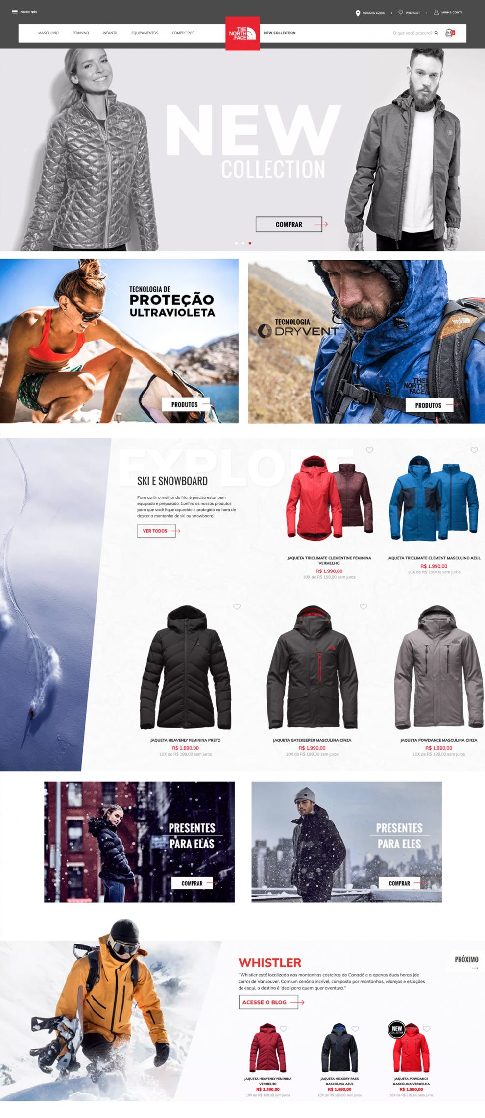 North Face Awesome Homepage