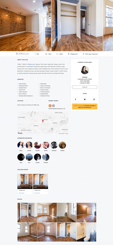 Nooklyn Clean Website Design