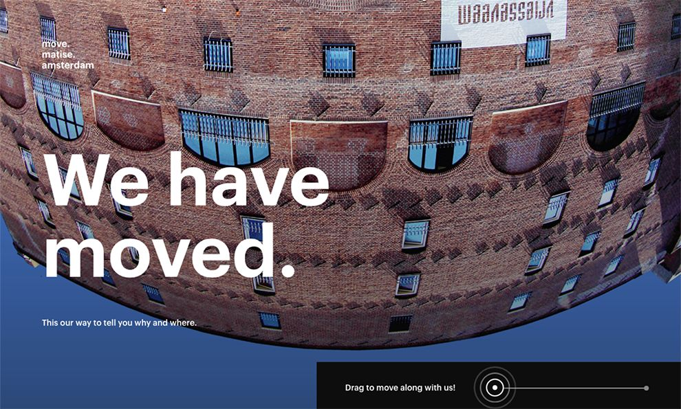 Move Matise Amsterdam Awesome Homepage