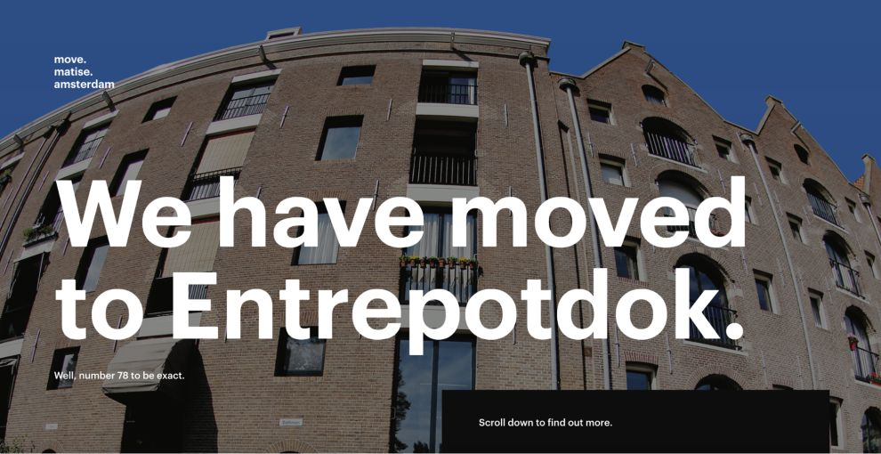 Move Matise Amsterdam Awesome Website Design