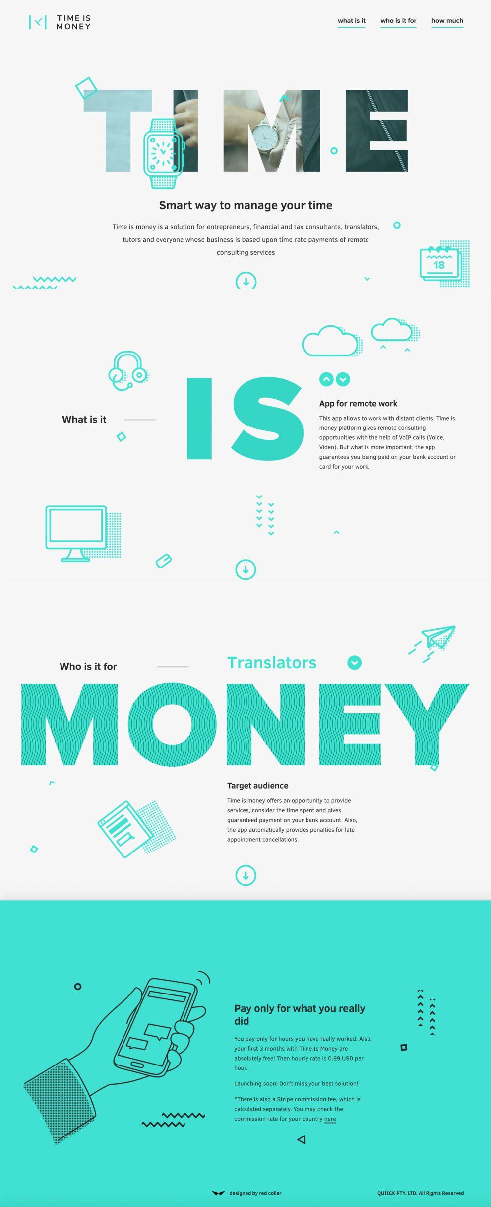 Time is Money Stunning Website Design