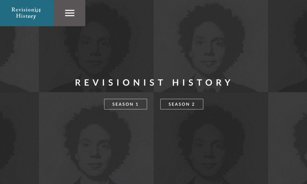 Revisionist History Great Homepage