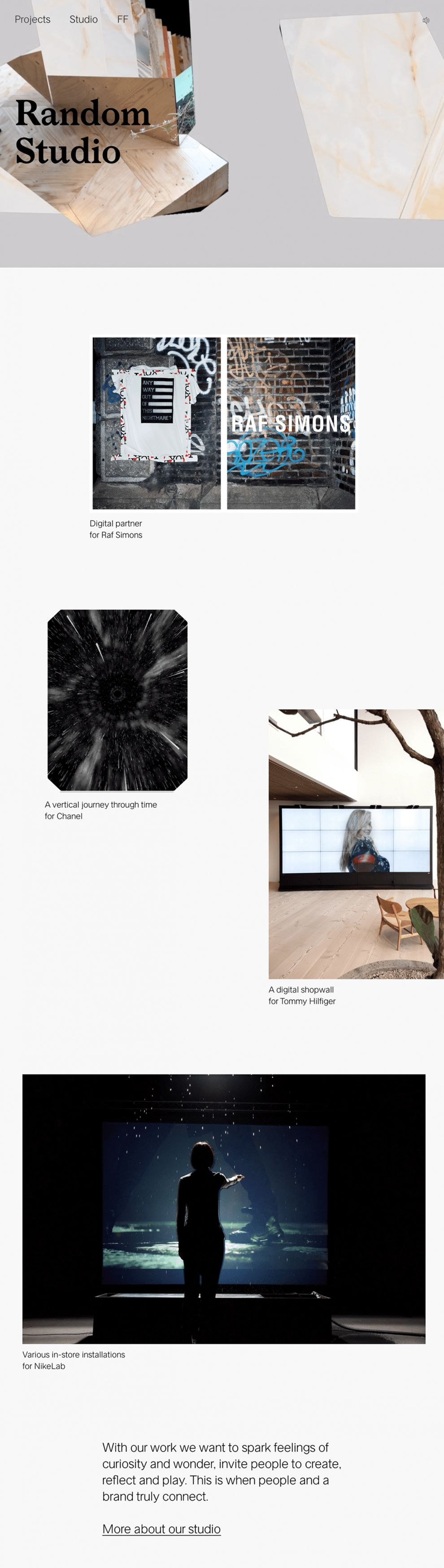 Random Studio Minimal Homepage