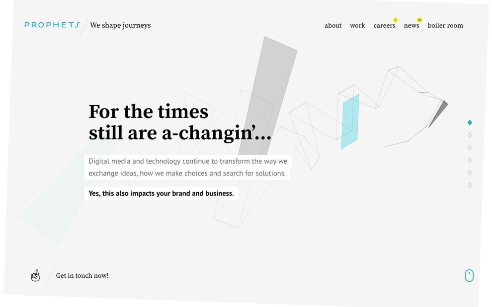Prophets Creative Homepage