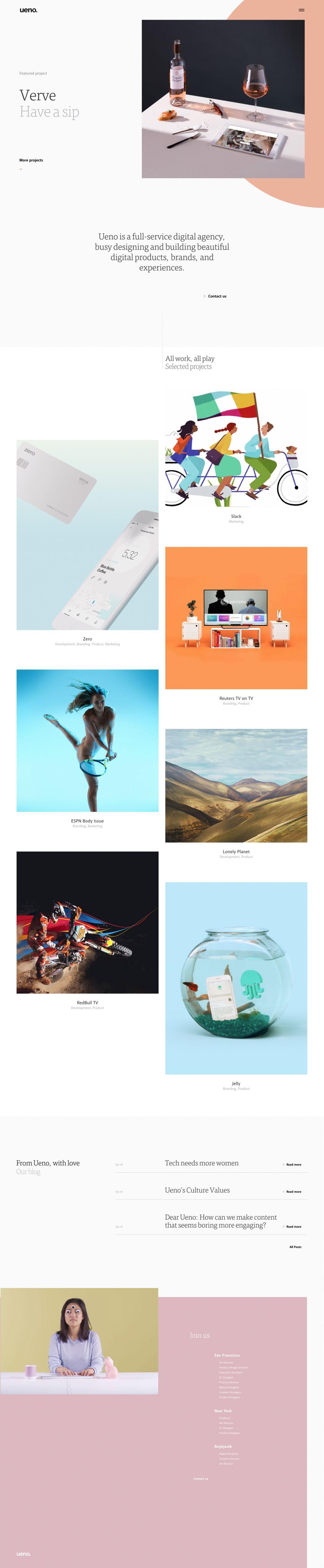 Ueno Amazing Homepage