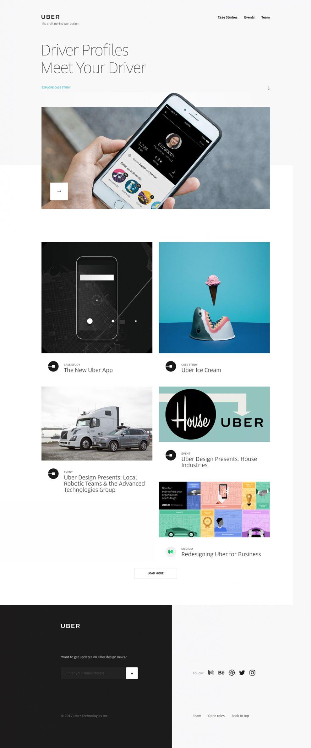 Uber Design Clean Homepage