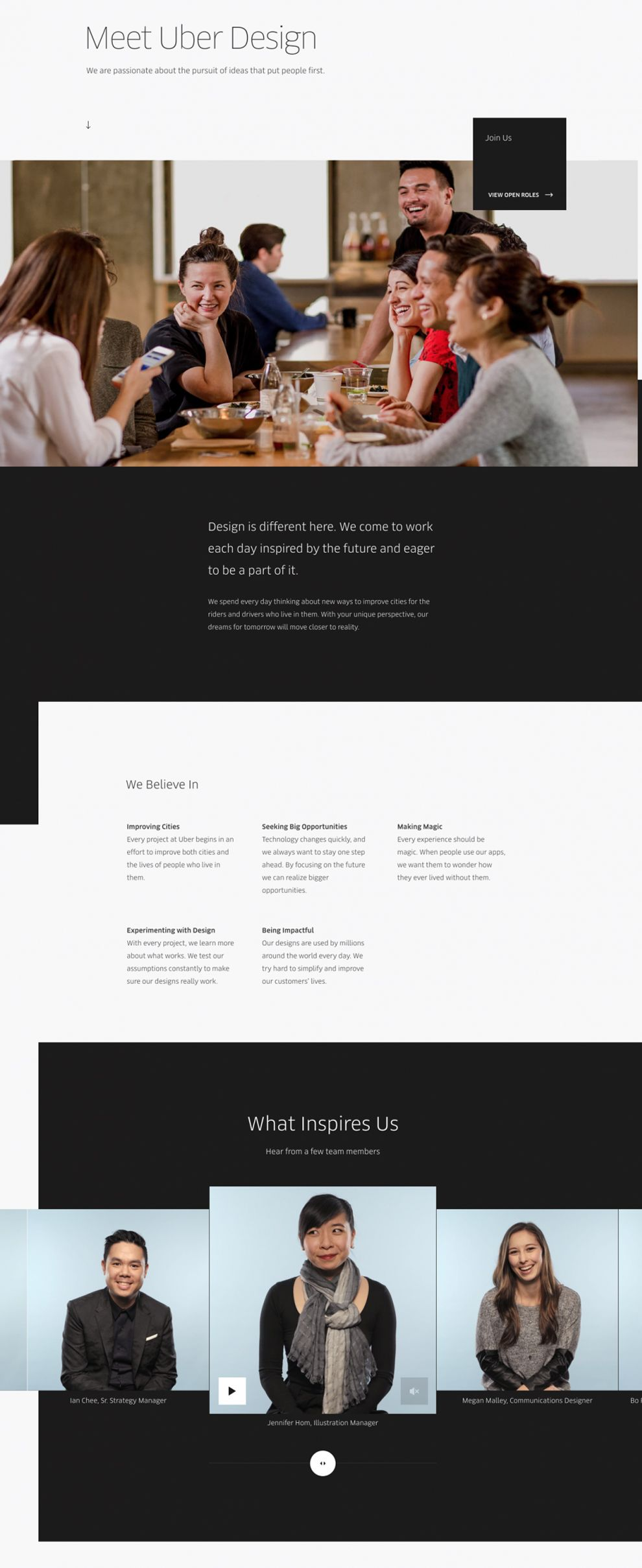 Uber Design Clean About Page
