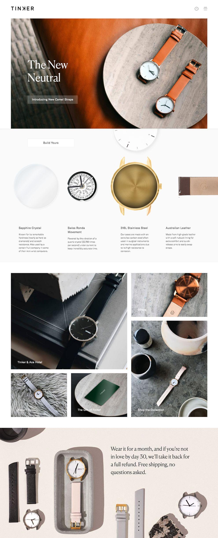 Tinker Elegant Homepage