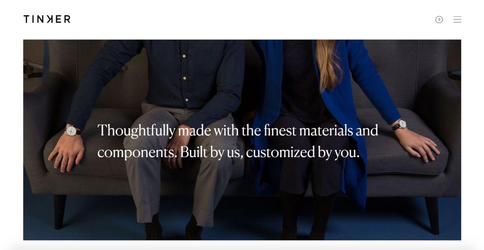 Tinker Elegant Website Design