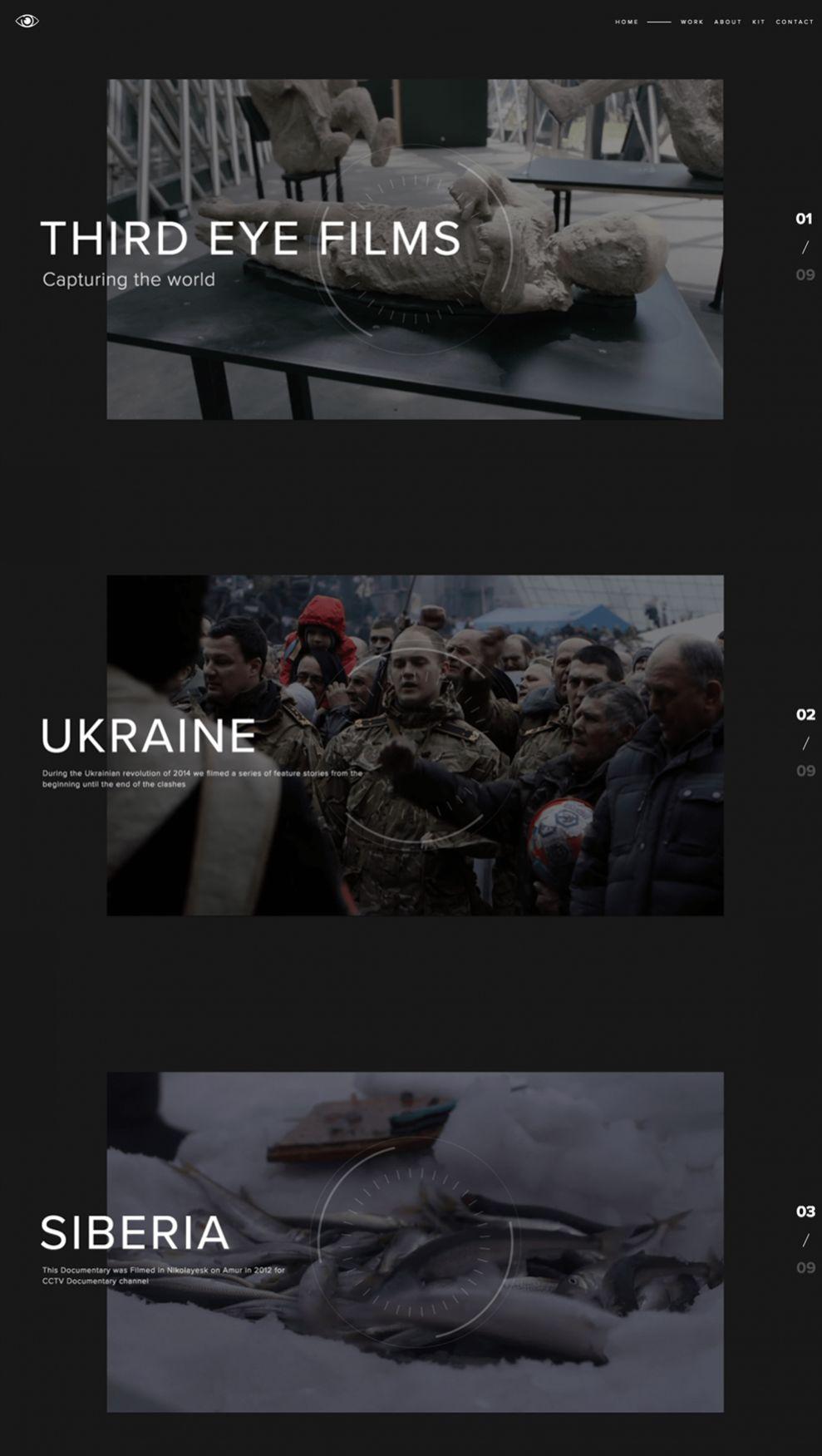 Third Eye Films Clean Homepage
