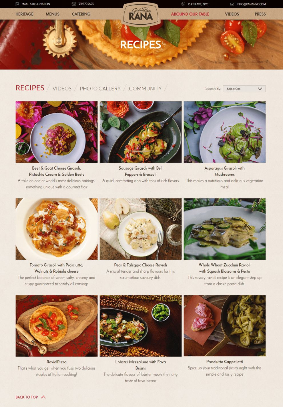 Rana NYC Elegant Website Design