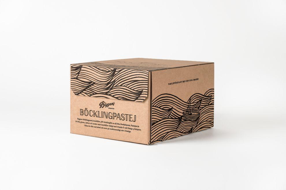 Biggans Böcklingpastej Clean Package Design