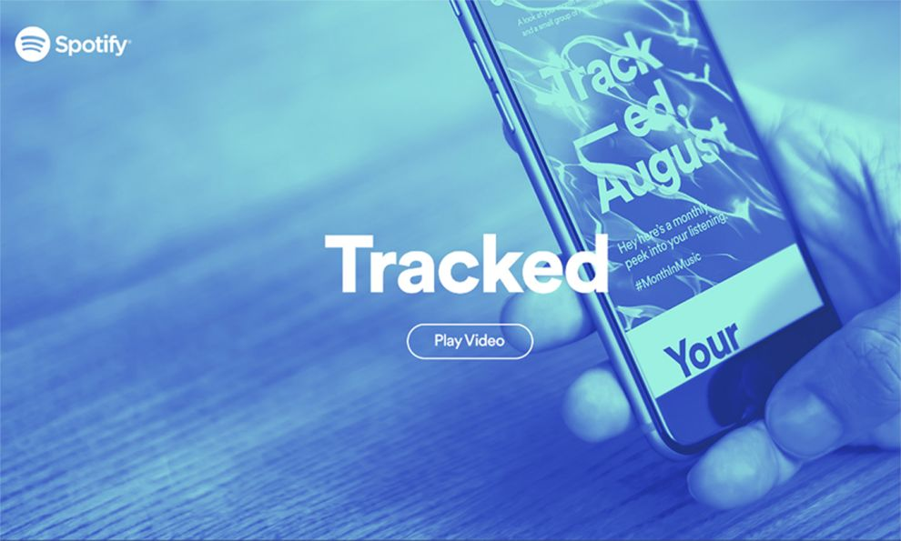 Spotify Tracked Colorful Homepage