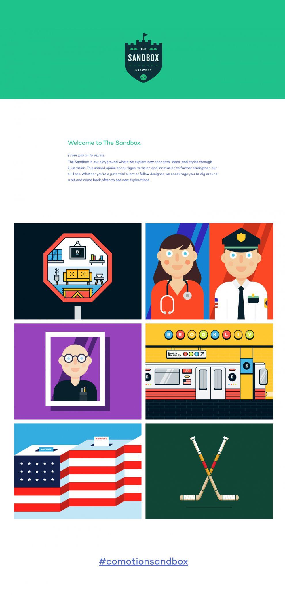 Comotion Colorful Website Design