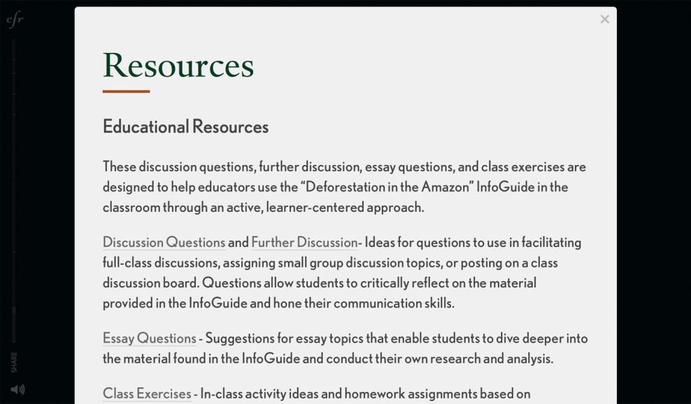 CFR Clean Resources Page