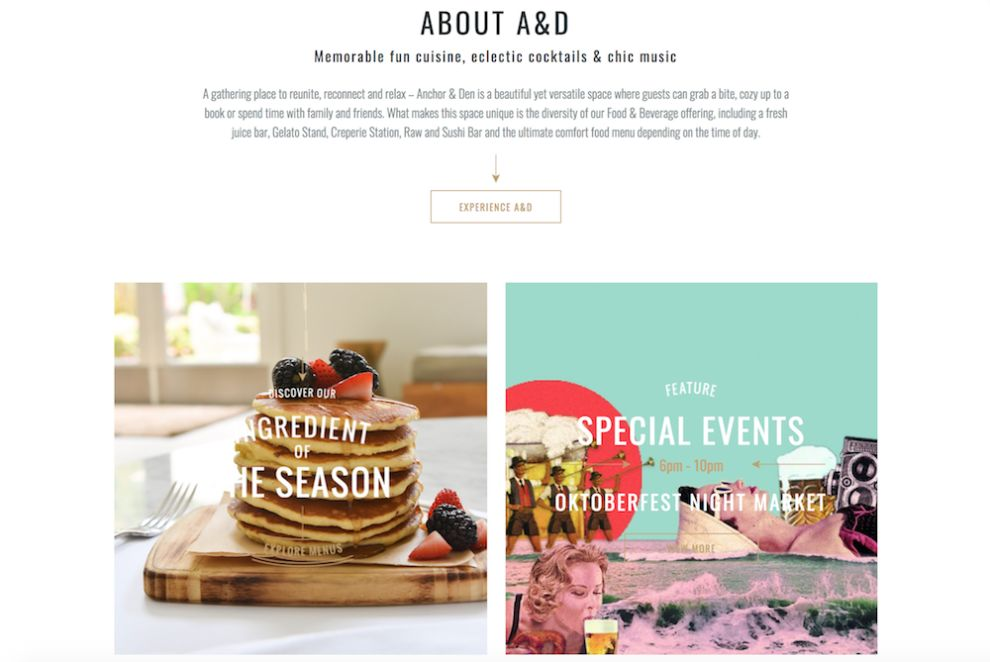 Anchor And Den Clean Website Design
