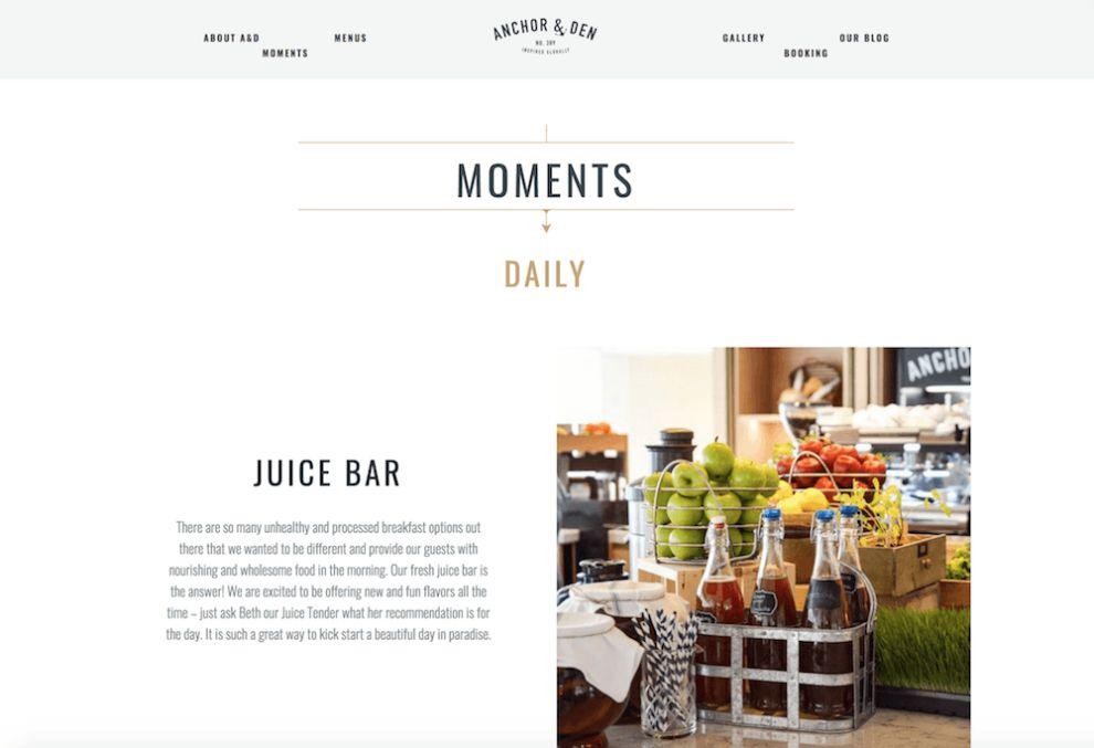 Anchor And Den Cool Website Design