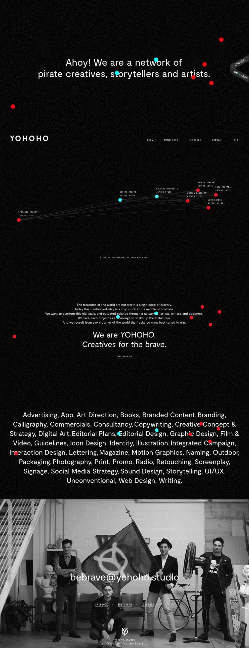 Yohoho Dark Homepage