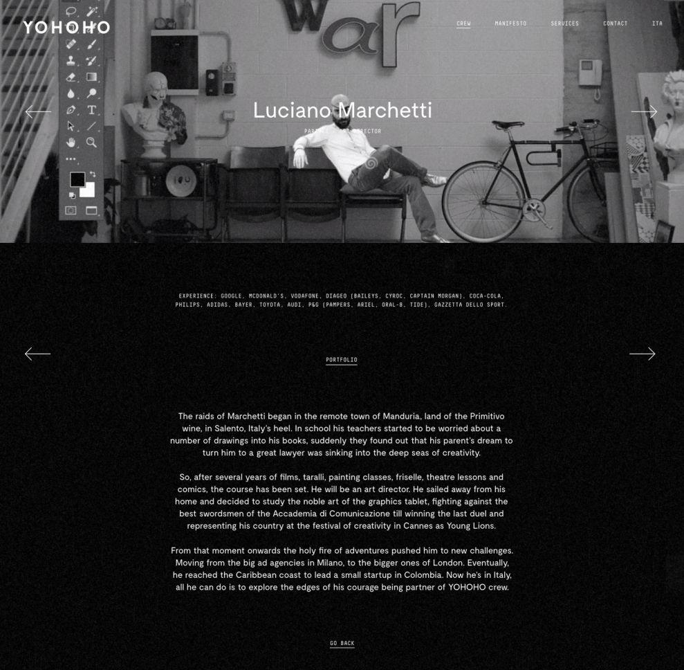 Yohoho Dark Website Design