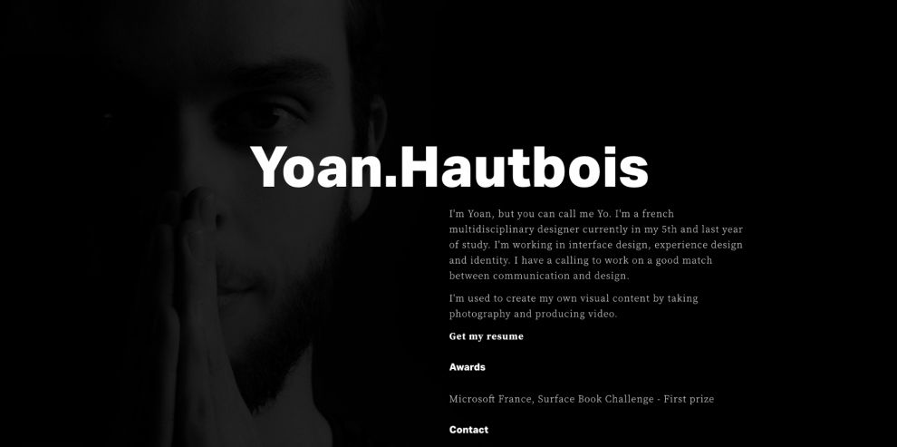 YHTBS Minimal About Page